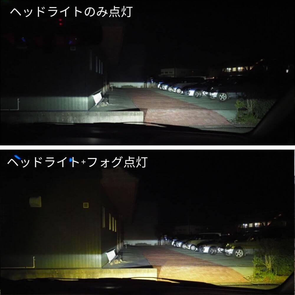 ヘッドライトとフォグランプ