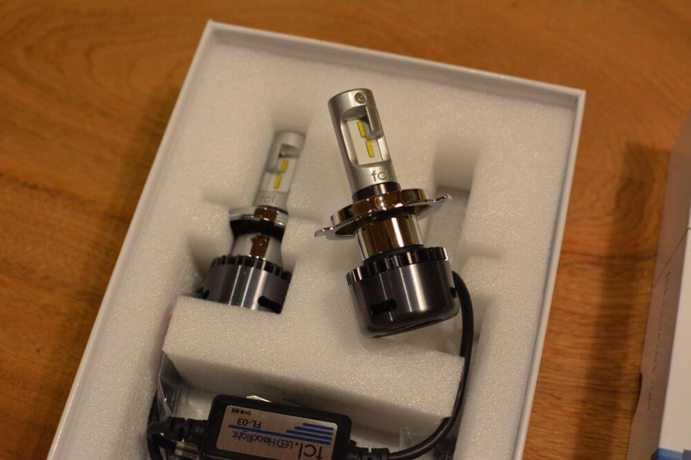 LEDヘッドライト ファン付 H4 Hi/Lo