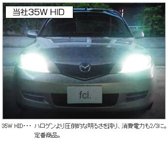 35W HIDキットと55W HIDキット
