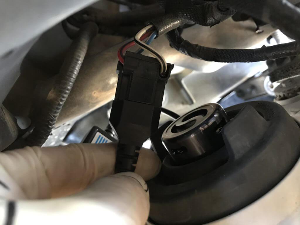 LEDバルブを固定