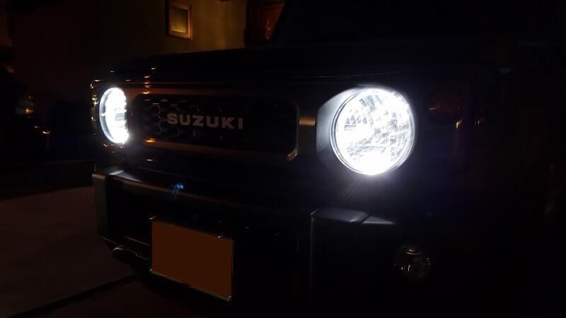 LEDバルブの点灯