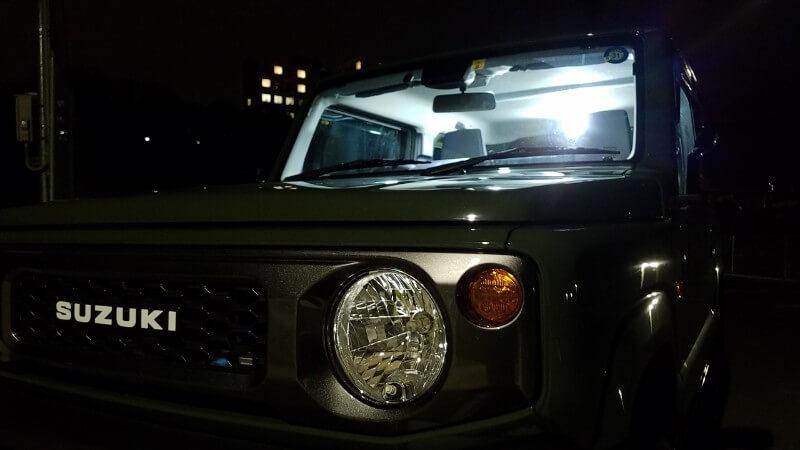 LEDルームランプ点灯