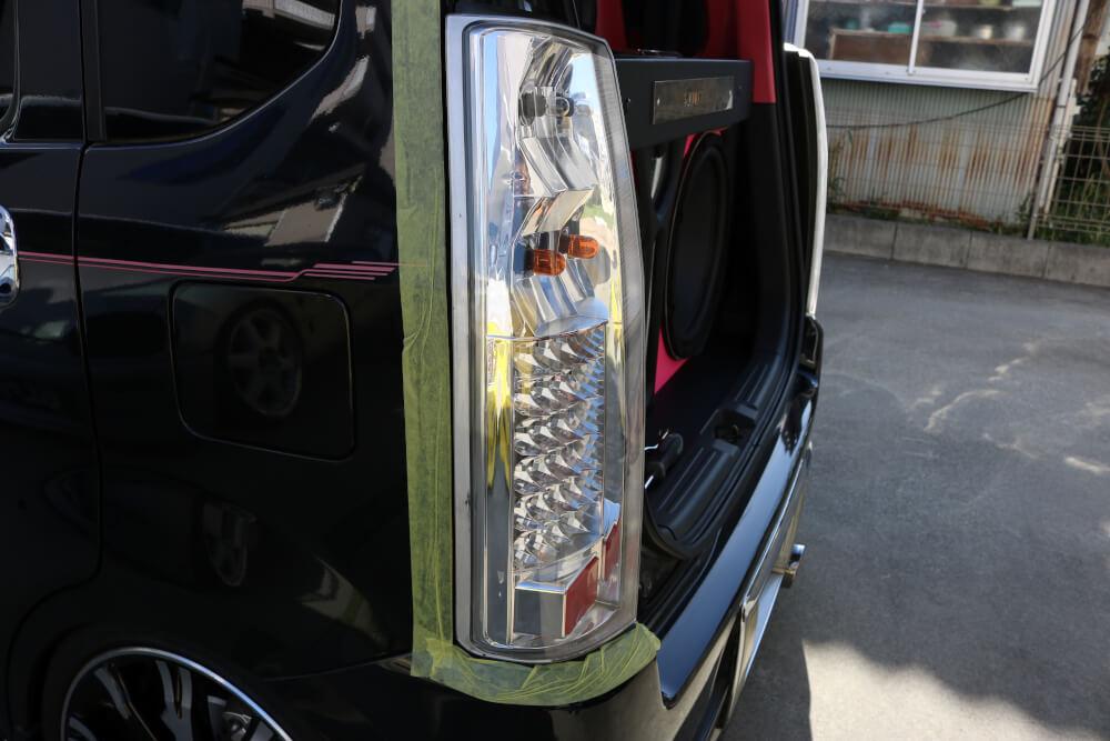 ワゴンRのバックランプをハイパワーLED化_ランプユニット