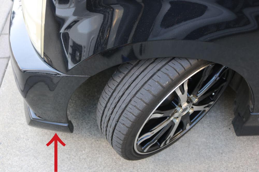 ワゴンRのウィンカーをLED化_タイヤハウス部分