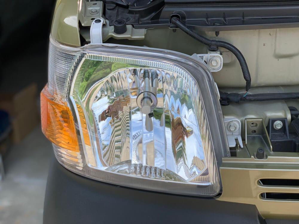 ハイゼットカーゴ S331V ヘッドライトをLED化_バンパー戻し