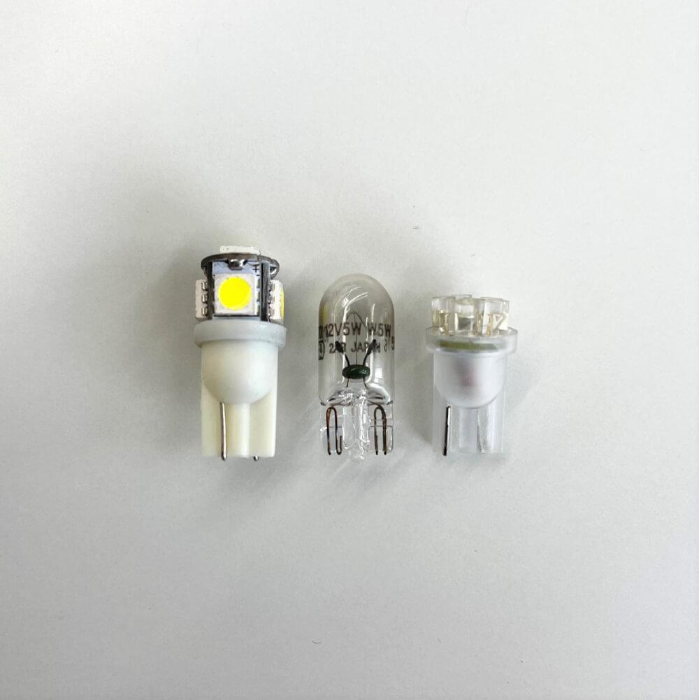 【交換方法】ジムニーシエラのライセンスランプ(ナンバー灯)をLED化_バルブの比較