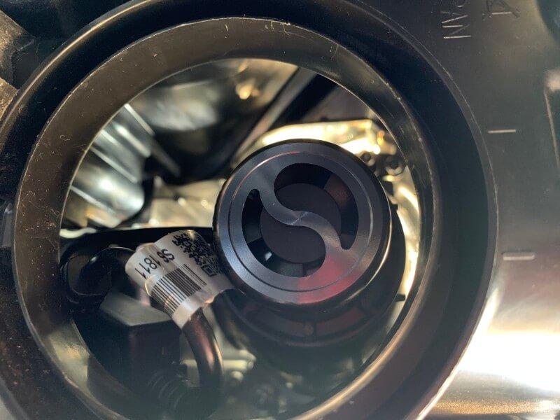 LEDバルブ取付挿入箇所
