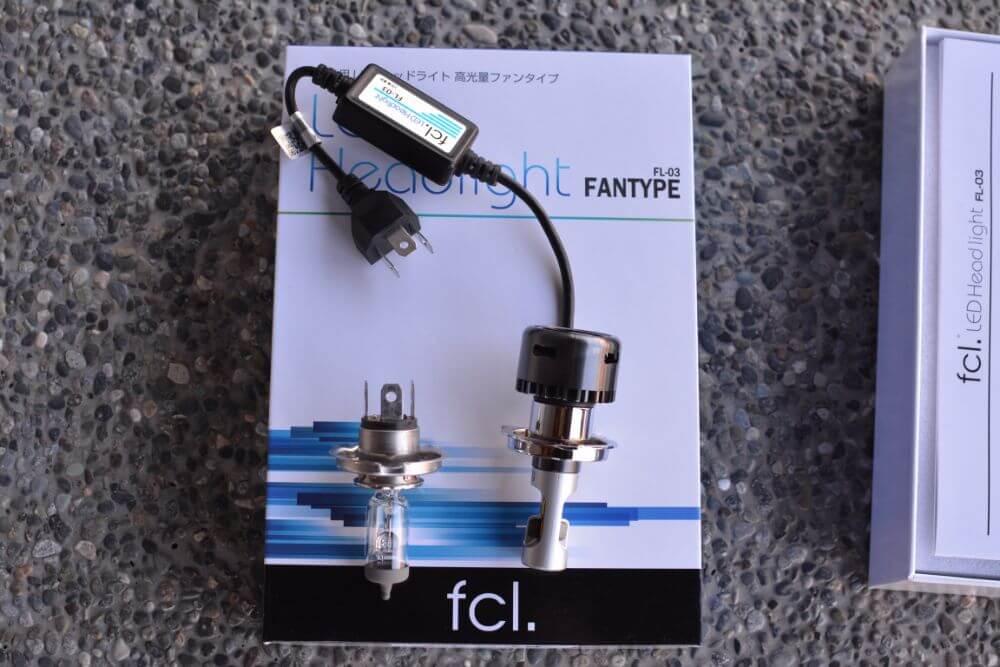 純正ハロゲンバルブとfcl.LEDバルブの比較
