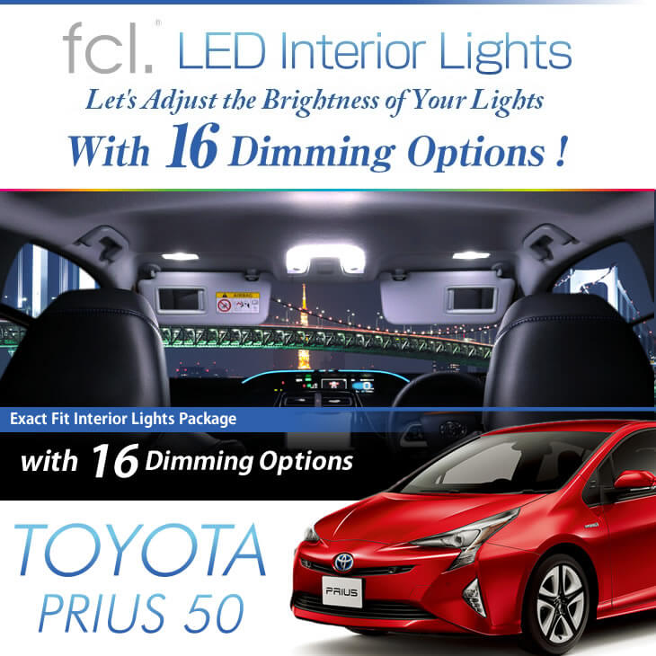 Prius (50) ZVW5# 2015.12- Model 7PCS Lights Exact Fit Vehicle LED Interior Package
