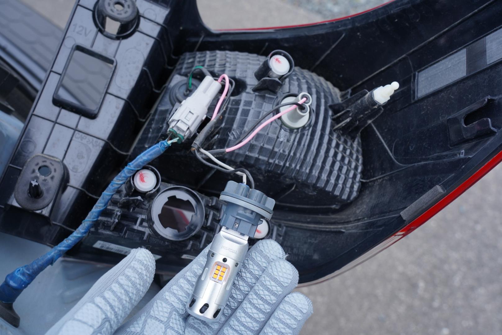 抵抗内蔵LEDウィンカーの点灯確認