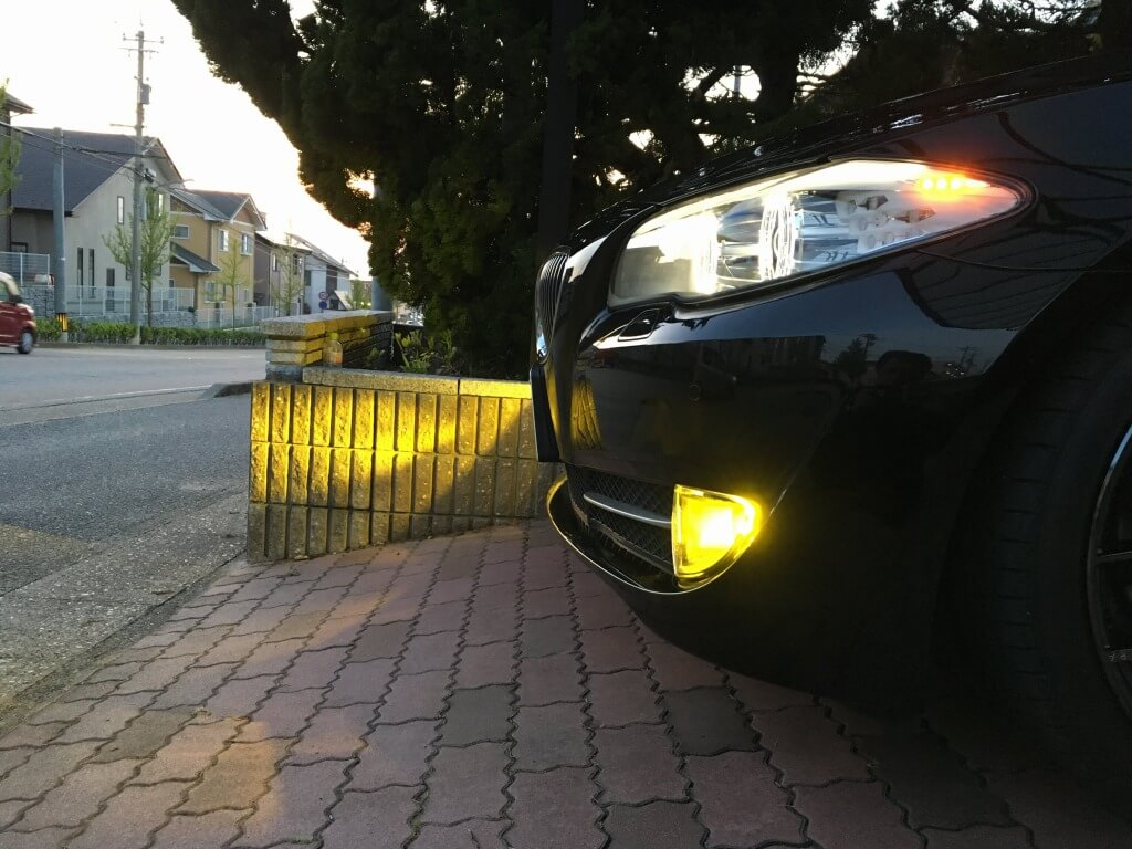交換後 LEDフォグランプの点灯