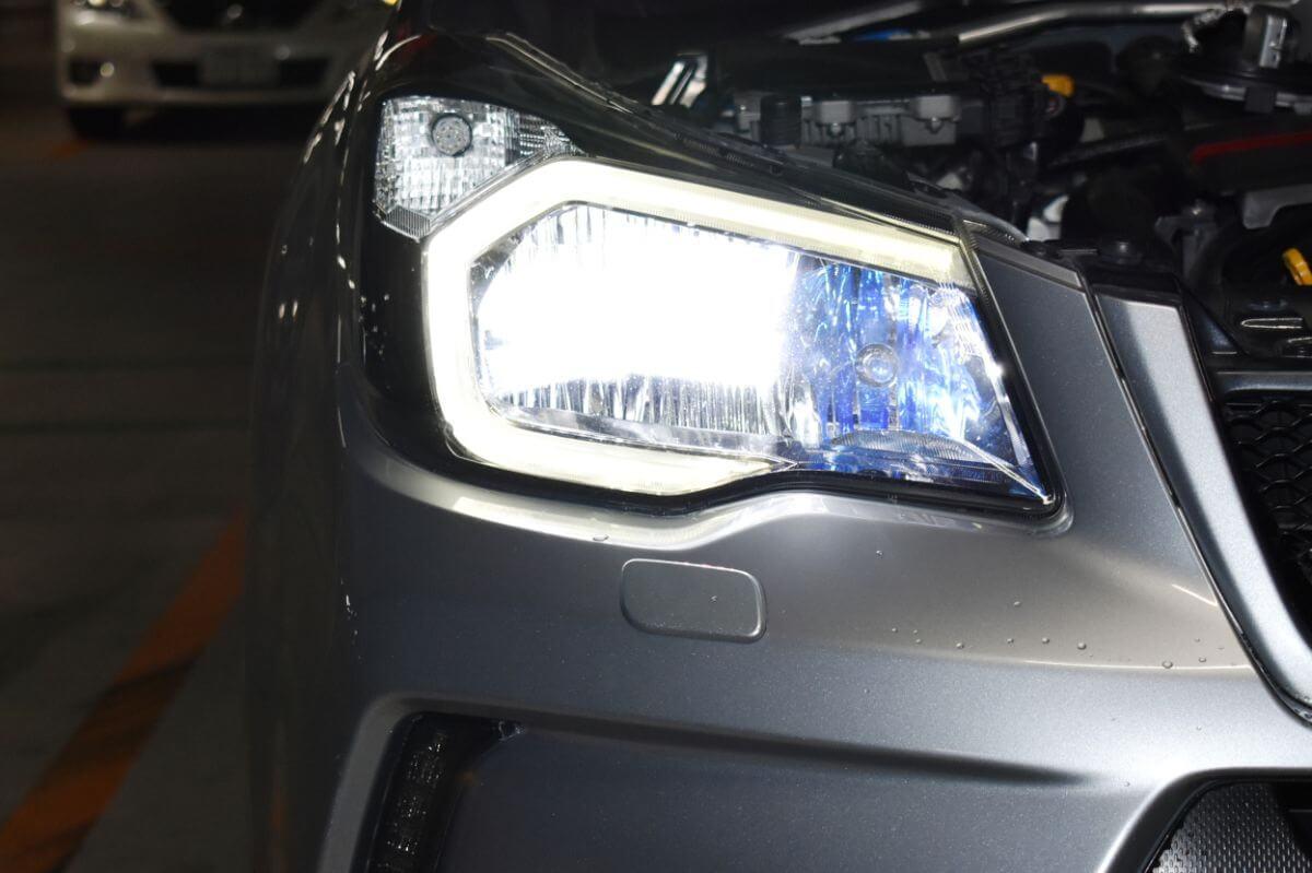 交換後 LEDヘッドライト点灯