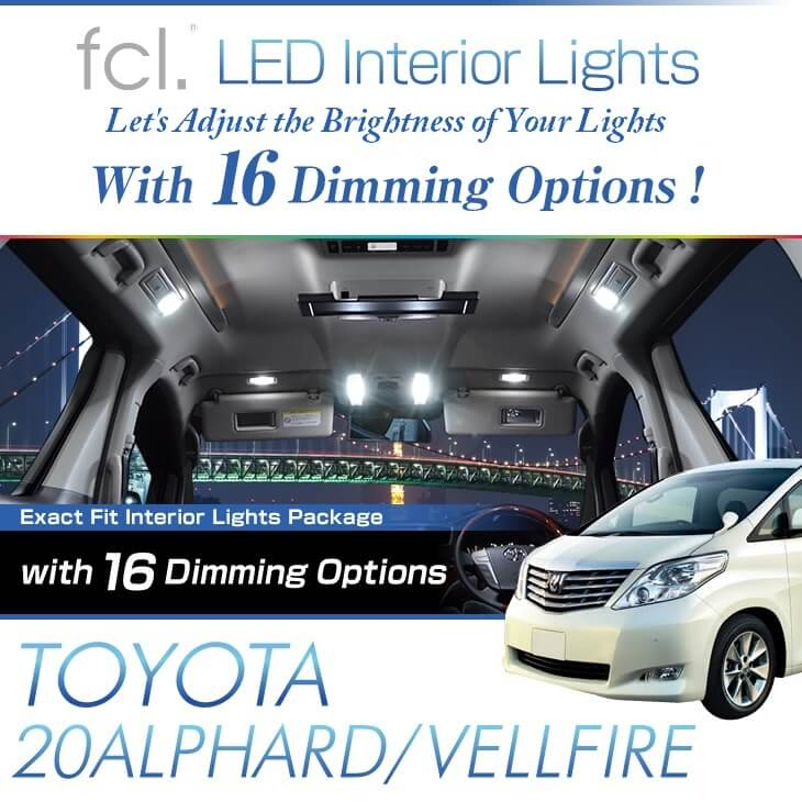 Alphard/Vellfire (20)11PCS Lights Exact Fit Vehicle LED Interior Packag