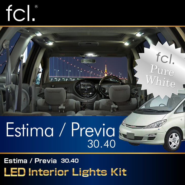 Estima/ Previa/ Tarago (30,40) 9PCS Lights Exact Fit Vehicle Specific 112-SMD Complete LED Interior Package