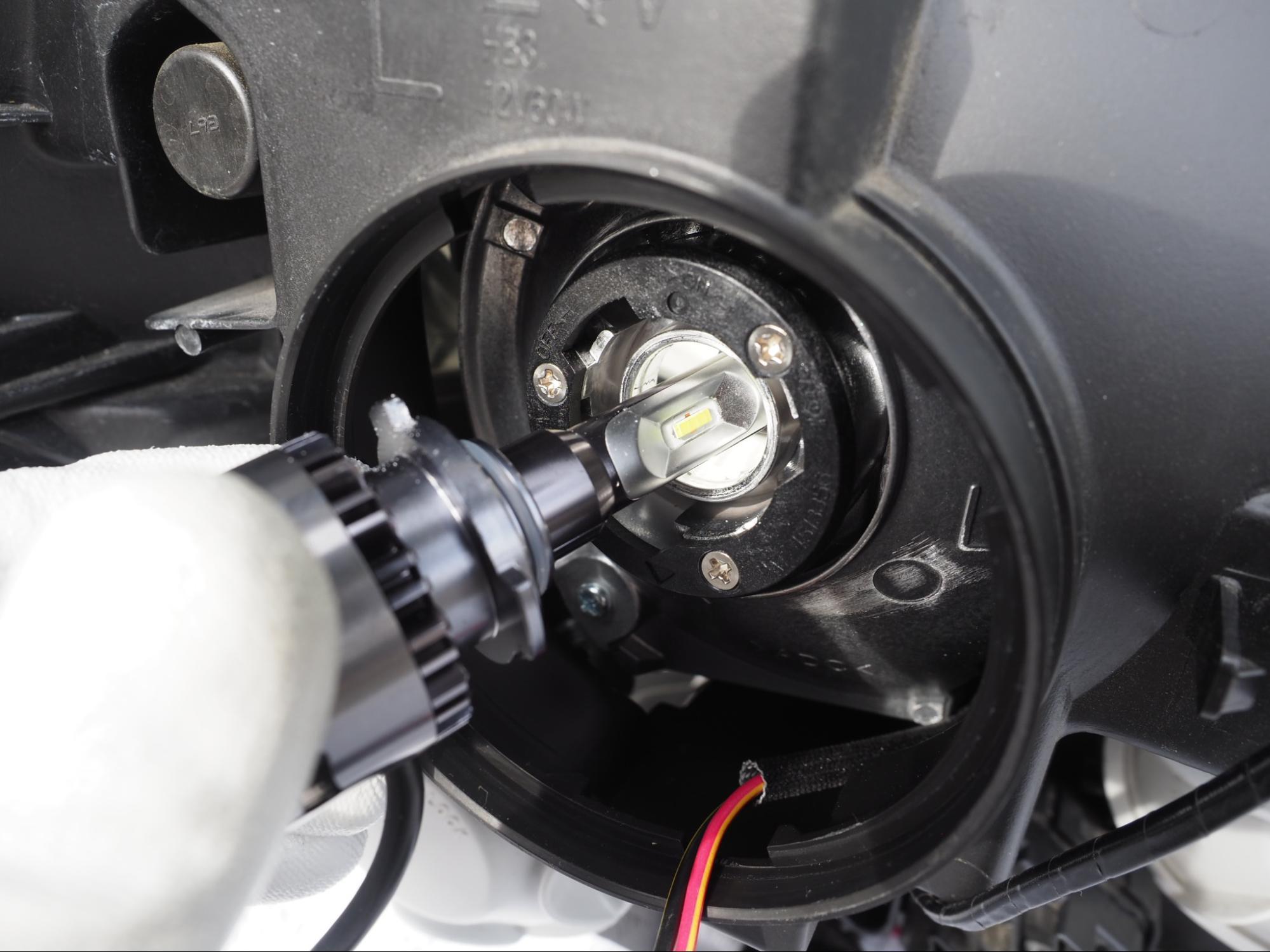 fcl.LEDヘッドライトを取り付け