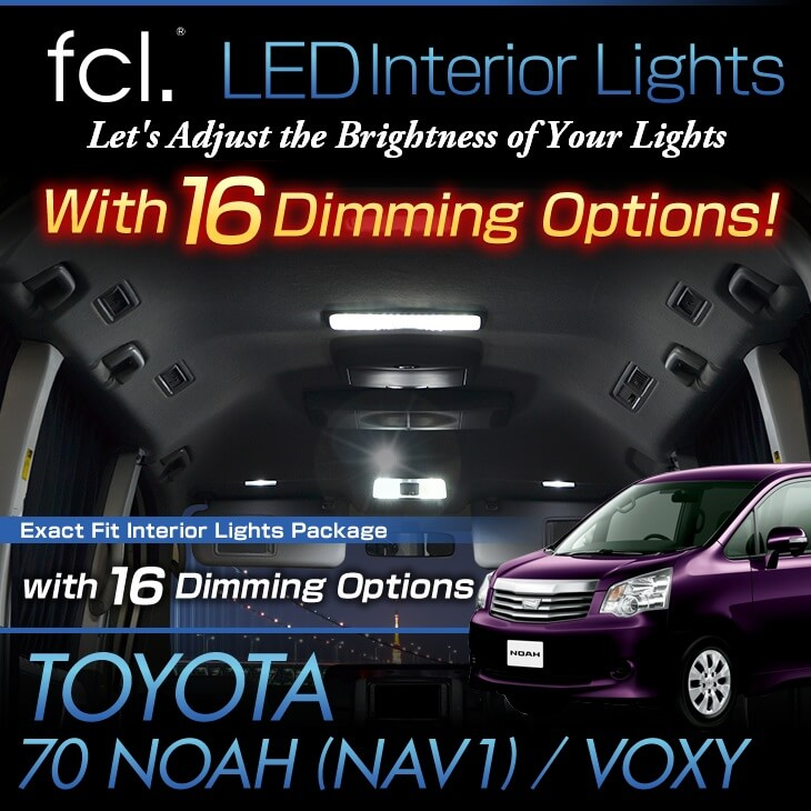 NOAH/VOXY/NAV1 (ZRR7# with Center Dome Light) 12PCS Lights Exact Fit LED Interior Package