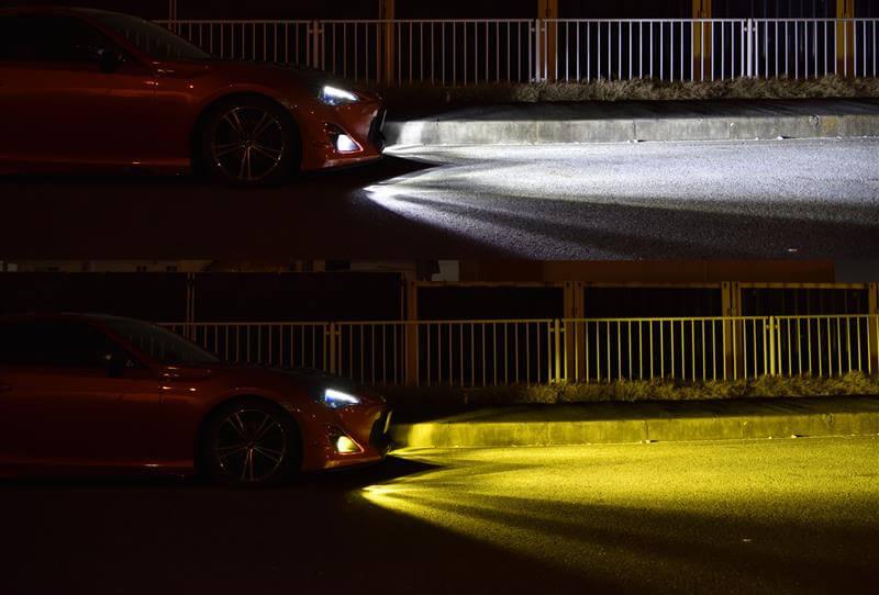 トヨタ86_fcl.2色カラーチェンジバルブ点灯照射
