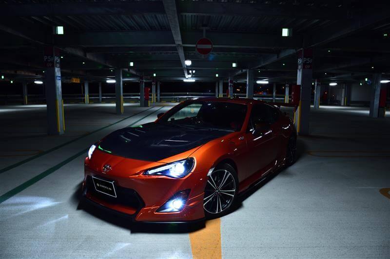 トヨタ86 LEDフォグランプ点灯